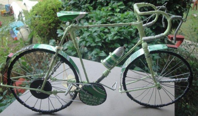Green Metal Bicycle #1 (Recycled Metal)