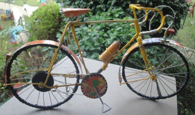 Orange Metal Bicycle #1 (Recycled Metal)