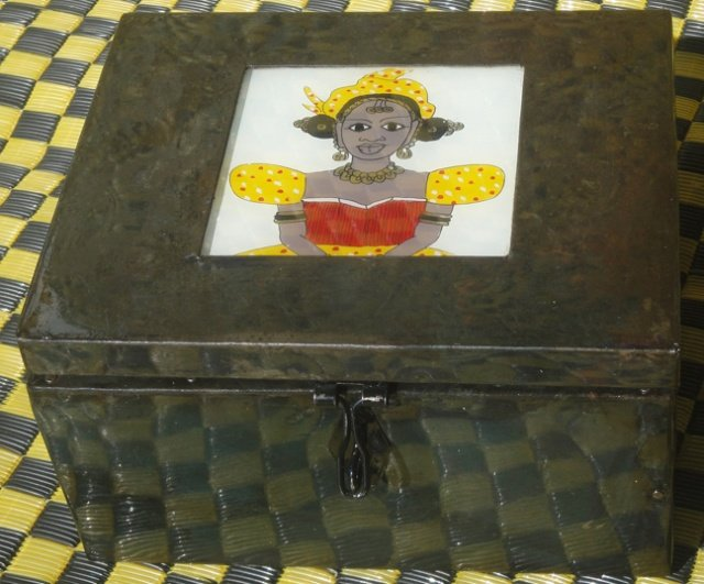 Senegalese Jewelry Box #2 (Recycled Metal)