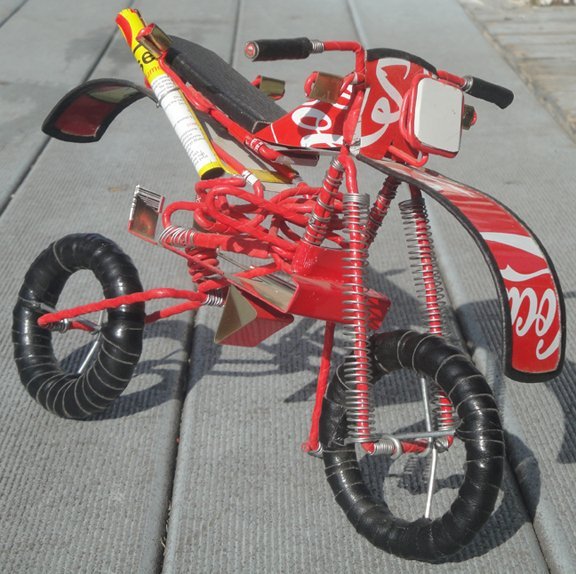 Red Recycled Motocross