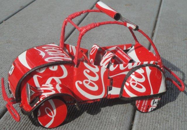 African soda can art car