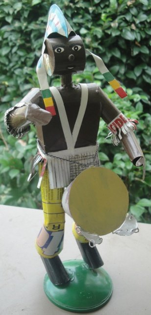 African drummer tin art #2 (Mali)