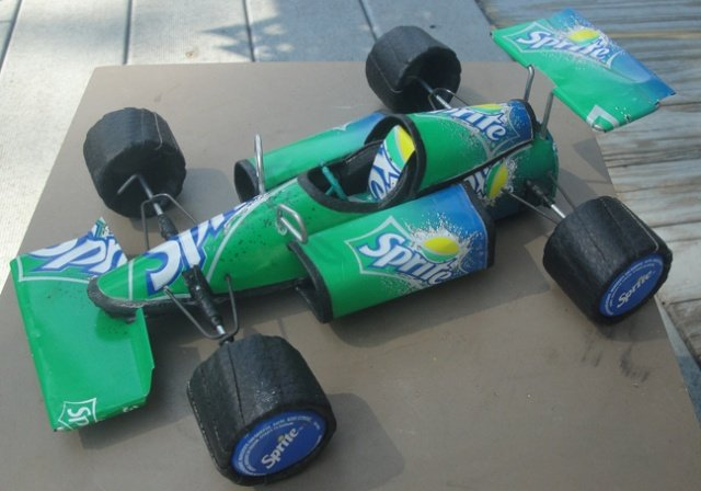 Green Indy Car (Recycled Metal)
