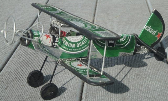 Recycled Beer Can Biplane from Senegal