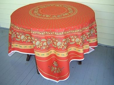 Red Lisa French tablecloth panel
