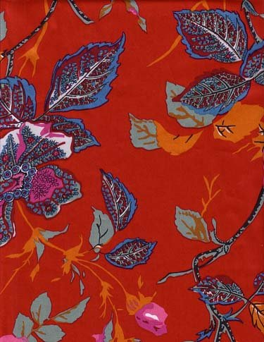Souleiado Rosebud Red 105-inch wide fabric