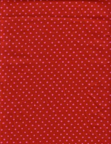 Souleiado Polka dot Red 105-inch wide fabric (Rosebud coordinate)