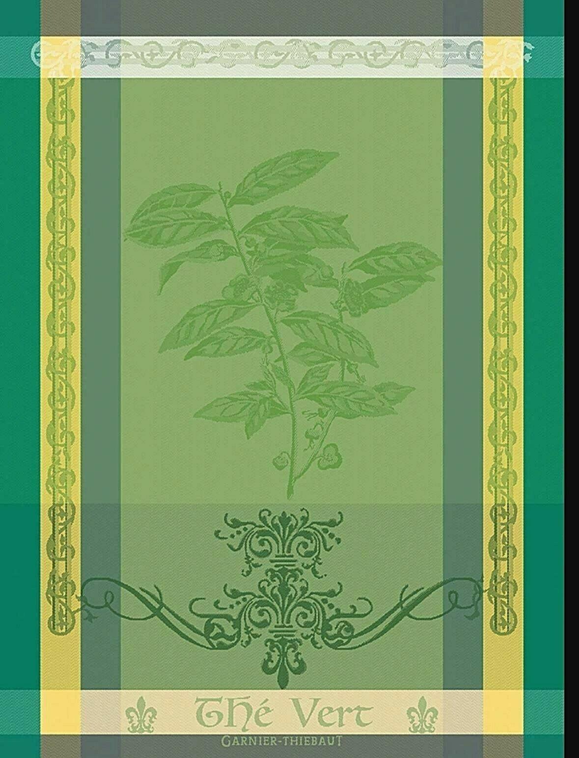 Garnier-Thiebaut Green Tea Leaf Towel