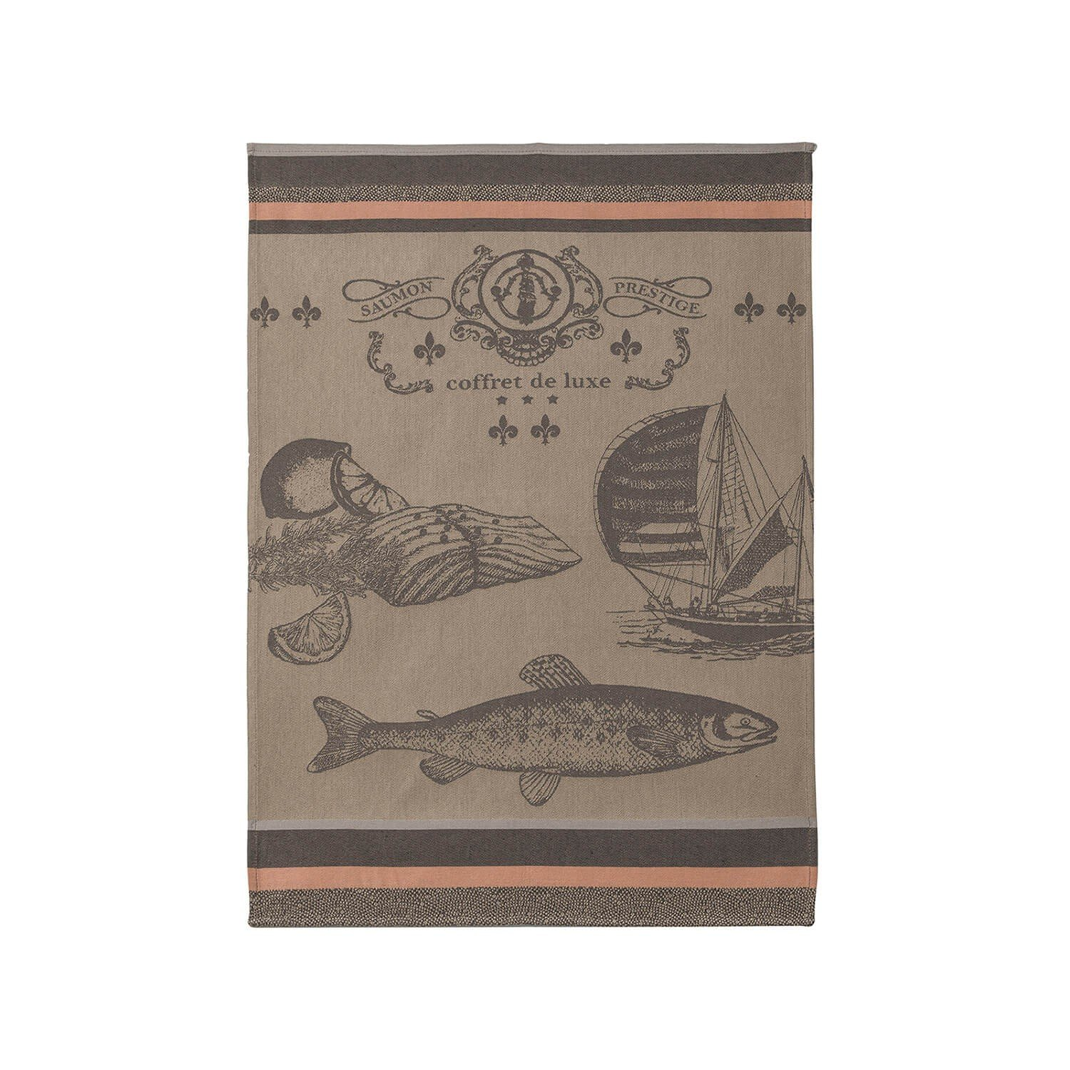 Coucke Salmon tea towel