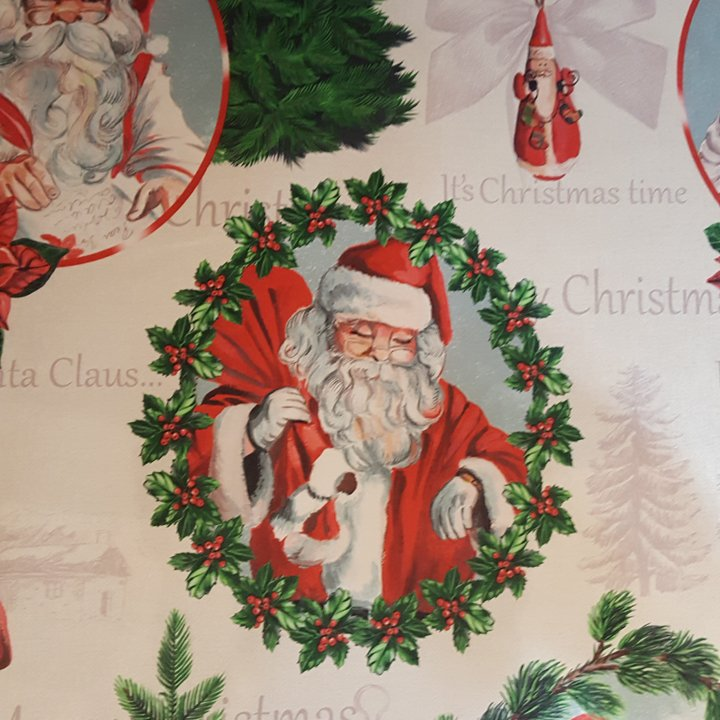 Acrylic coated Santa Claus fabric