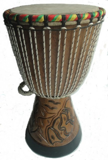 Djembe drum from Senegal (11 inch)