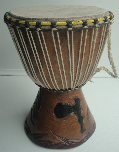 Djembe drum from Senegal (8 inch)