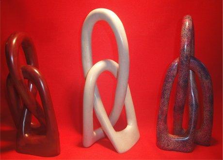 Unity Friendship Knot Soapstone Sculpture - Kenya