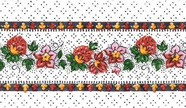 Souleiado 2-inch border (pink on white)