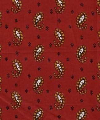 Souleiado Jaipur (red) fabric