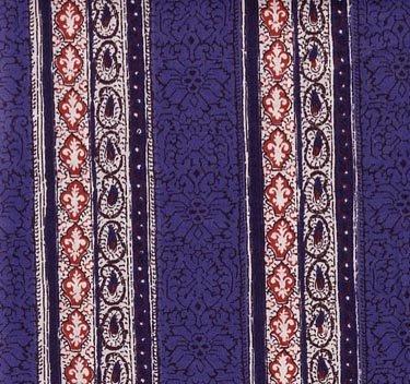 Souleiado blue border fabric
