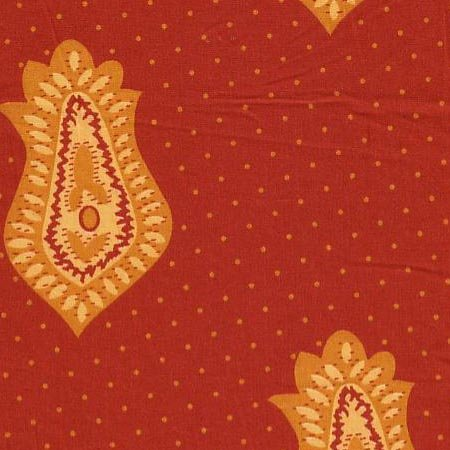 Red Cannes Souleiado fabric
