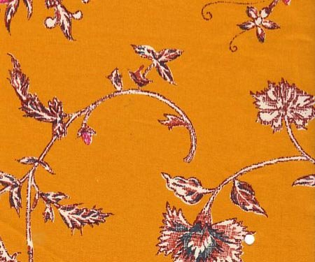 Souleiado gold floral fabric