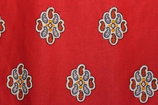 Souleiado red Ostrogo fabric (France)