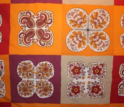 Souleiado orange block pattern