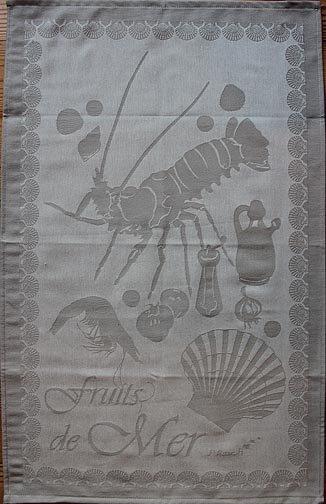 St Roch Seafood tea towel (tan)
