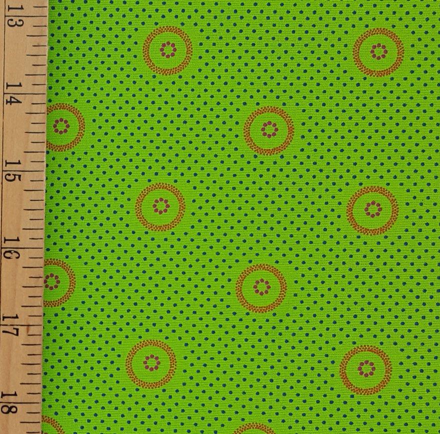 Da Gama Lime and Orange fabric (1308)