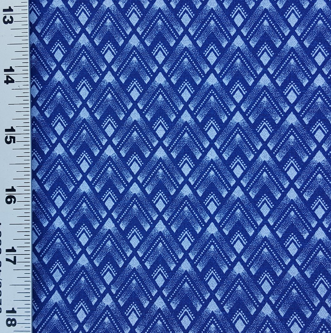 Indigo blue shweshwe fabric (1463)