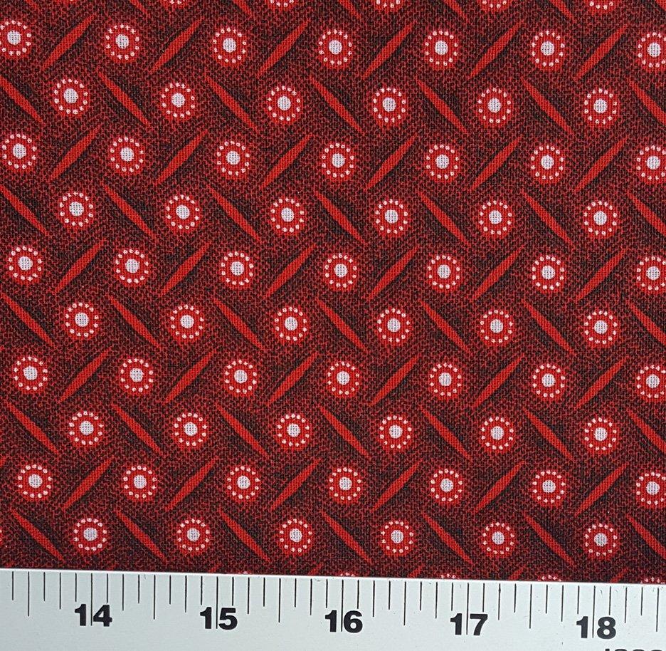 Da Gama Red and black shweshwe fabric (1406)