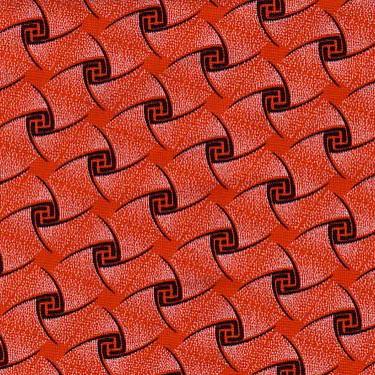 Shweshwe Pinwheel (Red)