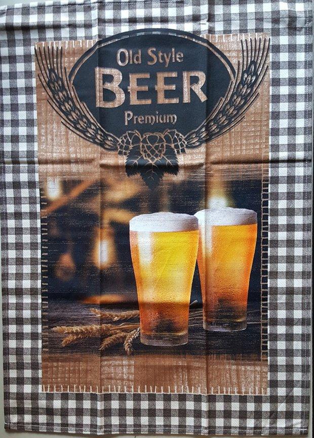 STOF Old Style Beer tea towel