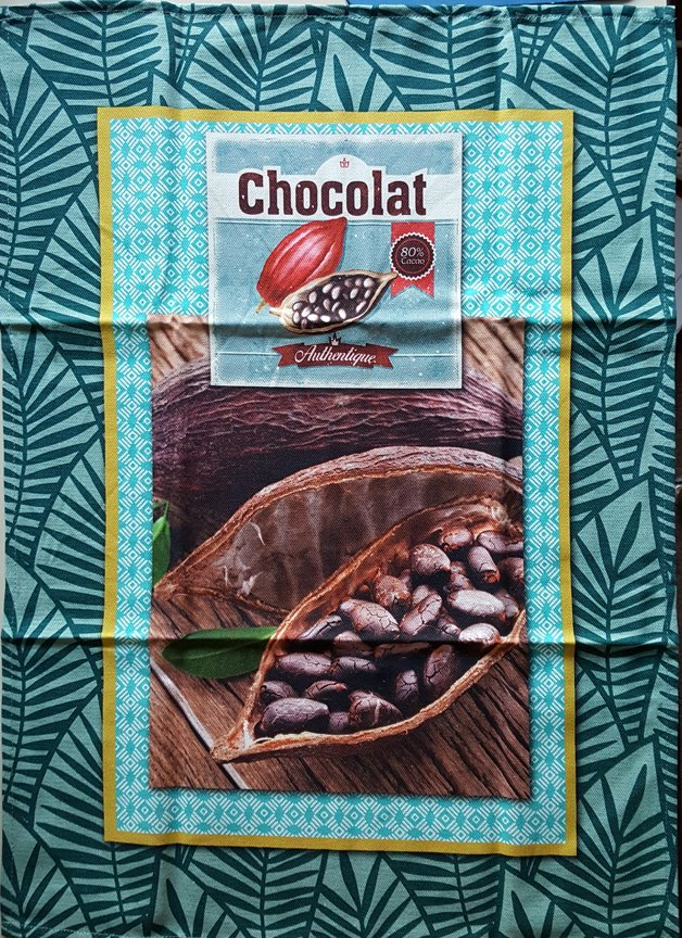STOF Cocoa bean tea towel