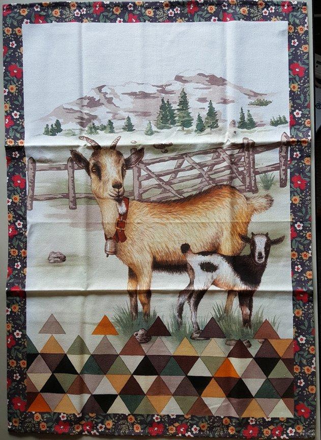 STOF Goat tea towel