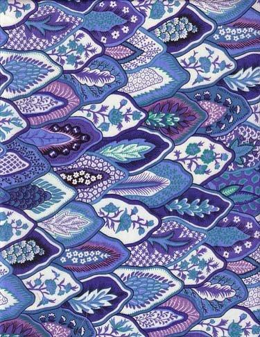 Souleiado St Paul de Vence Indigo 93-inch wide fabric
