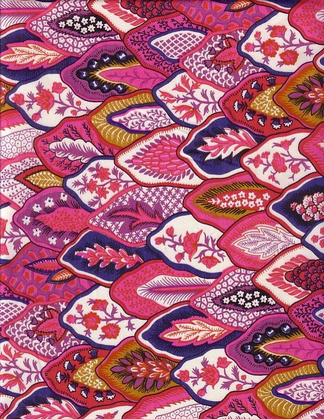 Souleiado St Paul de Vence Raspberry 93-inch wide fabric