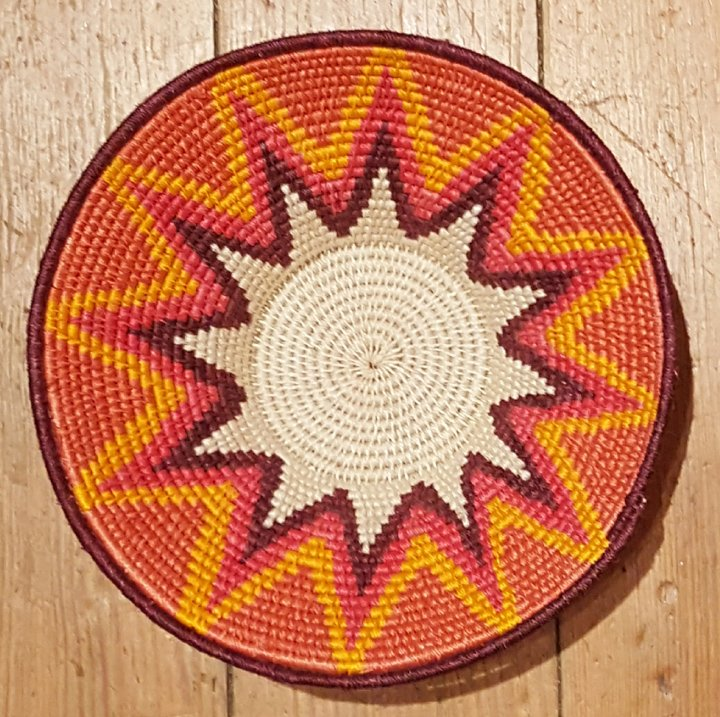 Swaziland Red to Gold 6-inch Woven Bowl #034