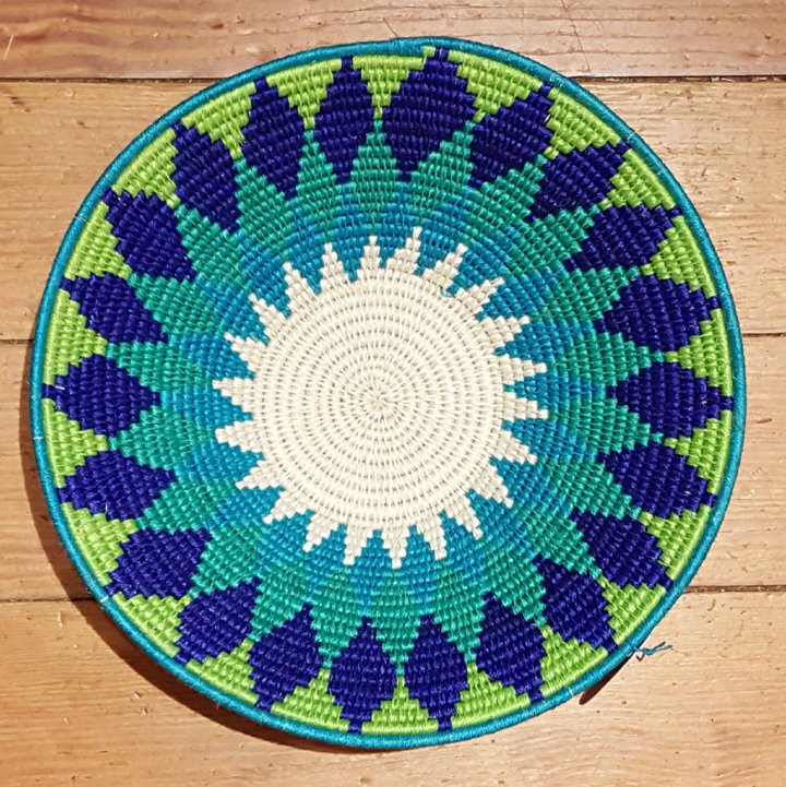 Swaziland Green 9-inch Woven Bowl #037