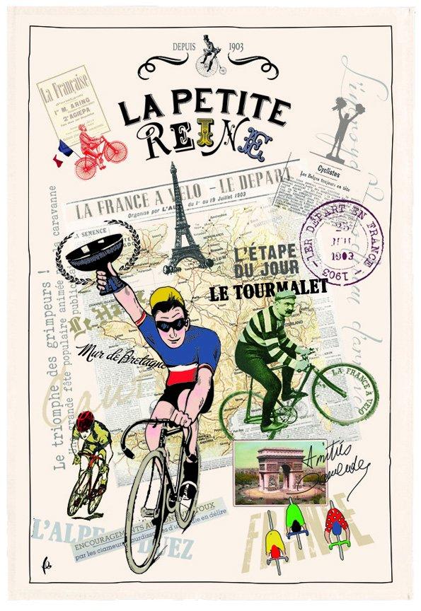 Torchons & Bouchons Bicycle tea towel