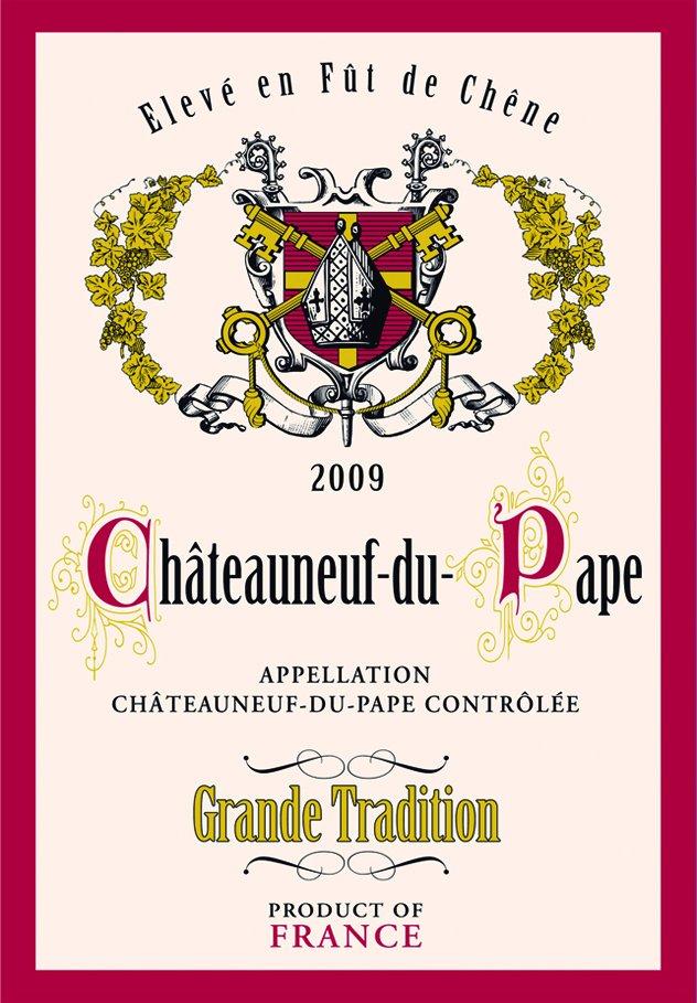 Torchons & Bouchons Chateauneuf-du-Pape tea towel
