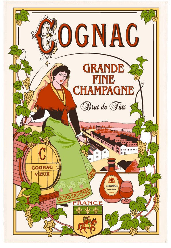 Torchons & Bouchons Cognac tea towel