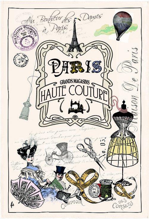 Torchons & Bouchons Haute Couture tea towel