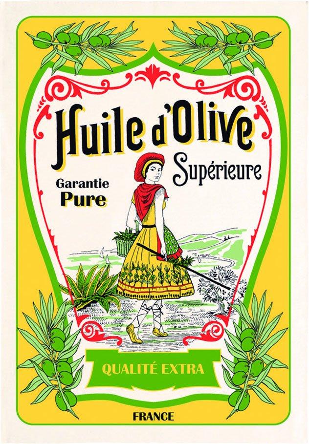 Torchons & Bouchons Huile d'Olive tea towel