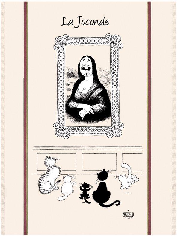 Dubout Mona Lisa tea towel
