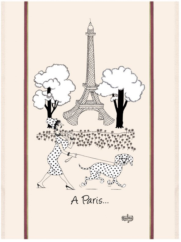 Dubout Paris Fashion tea towel