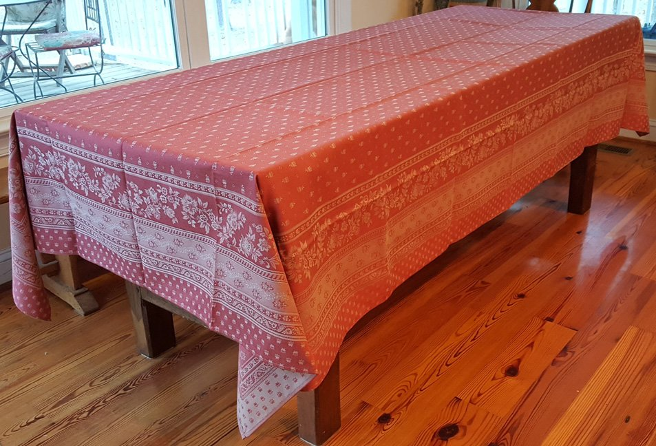5 Sizes French Jacquard Tablecloths Bastide (Red)