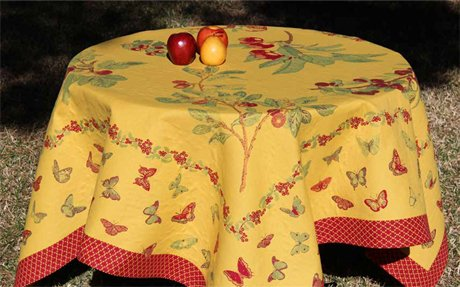 4 Sizes French Tablecloths Double Weave Garden (Yellow)