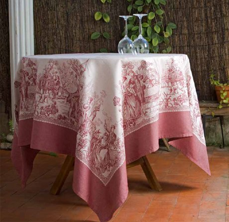 4 Sizes French Jacquard Tablecloths Versailles (Red)