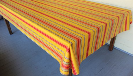96 French Acrylic-Coated Tablecloth Rectangular Tablecloth (Striped)
