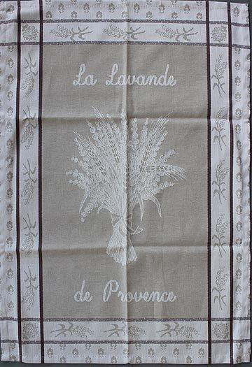Tissage du Soleil Lavender tea towel (tan)