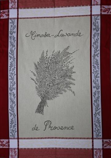 Tissage du Soleil Mimosa and Lavender tea towel
