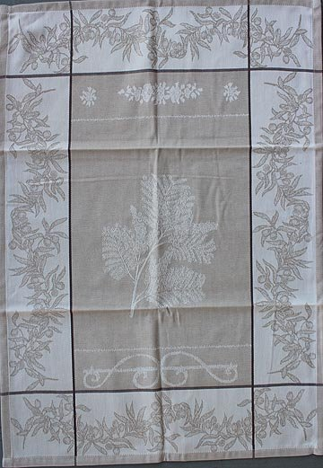 Tissage du Soleil Mimosa tea towel (tan)